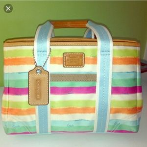 Colorful Coach hampton summer tote bag 👜